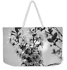 Blossoms In Black And White Weekender Tote Bag