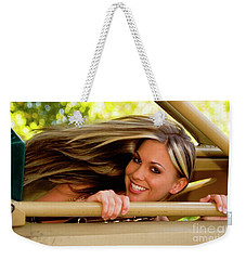Blowing Hair Weekender Tote Bag by Bob Pardue