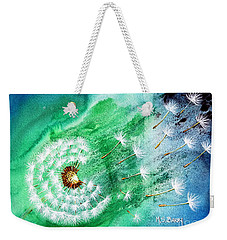 Weekender Tote Bag featuring the painting Blown Away by Maria Barry