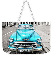 Weekender Tote Bag featuring the photograph Blue 52 by Lou Novick