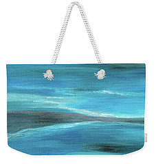 Blue Abstract Art In The Middle Of The Ocean Weekender Tote Bag