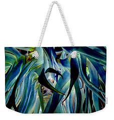 Blue Abstract Art Lorx Weekender Tote Bag