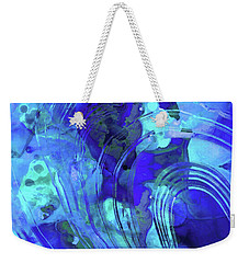 Blue Abstract Art - Reflections - Sharon Cummings Weekender Tote Bag by Sharon Cummings