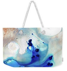 Blue Abstract Art - The Long Wave - Sharon Cummings Weekender Tote Bag by Sharon Cummings