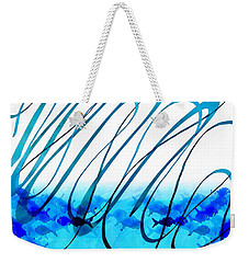 Blue Abstract  Blue Fish Weekender Tote Bag