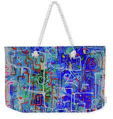 Blue Abstract Weekender Tote Bag by Maxim Komissarchik