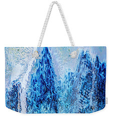 Blue Abstract Two Weekender Tote Bag
