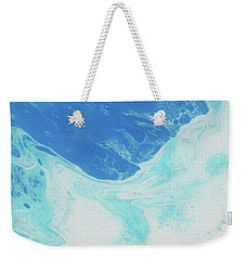 Weekender Tote Bag featuring the painting Blue Abyss by Nikki Marie Smith