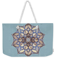 Blue And White Mandala Weekender Tote Bag