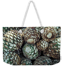 Blue Agave Hearts Mexico Weekender Tote Bag by John  Mitchell