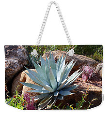 Weekender Tote Bag featuring the photograph Blue Agave by Kathryn Meyer