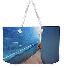 Blue Alleyway Weekender Tote Bag