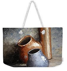 Blue And Brown Pots Weekender Tote Bag