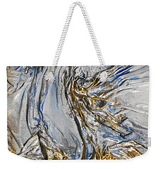 Blue And Gold 3 Weekender Tote Bag