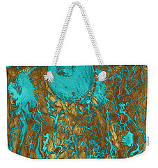 Blue And Gold Abstract Weekender Tote Bag
