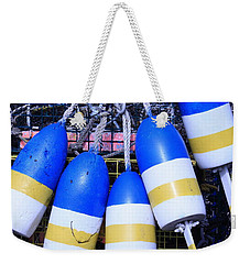 Blue And Gold Bouys Weekender Tote Bag