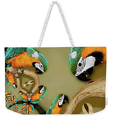 Blue And Gold Macaw Parrot Abstract Weekender Tote Bag