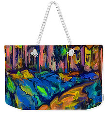 Southwest Blue And Gold In Fauve Weekender Tote Bag