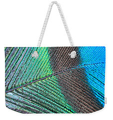Blue And Green Feathers Weekender Tote Bag