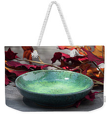 Blue And Green Shallow Bowl Weekender Tote Bag