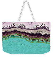 Blue And Lavender Weekender Tote Bag by Matt Lindley