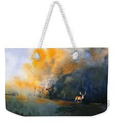 Blue And Orange Weekender Tote Bag