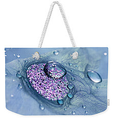 Blue And Purple Abstract Weekender Tote Bag