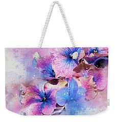 Blue And Purple Flowers Weekender Tote Bag