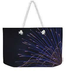 Blue And Silver Display Detail Weekender Tote Bag