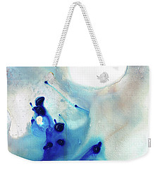 Blue And White Art - A Short Wave - Sharon Cummings Weekender Tote Bag by Sharon Cummings