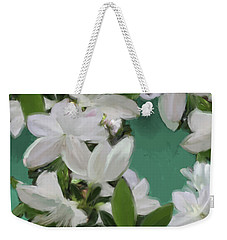 Blue And White Flower Art 2 Weekender Tote Bag