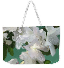 Blue And White Flower Art 3 Weekender Tote Bag