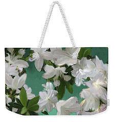 Blue And White Flower Art  Weekender Tote Bag