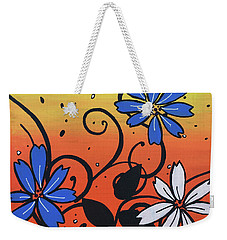 Blue And White Flowers Weekender Tote Bag