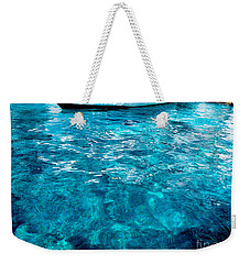 Weekender Tote Bag featuring the photograph Blue And White by Mike Ste Marie