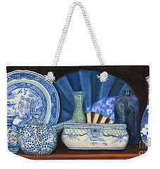 Blue And White Porcelain Ware Weekender Tote Bag