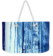 Blue And White Rainy Day Weekender Tote Bag
