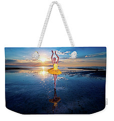 Blue And Yellow 2 Weekender Tote Bag