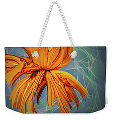Weekender Tote Bag featuring the digital art Blue And Yellow #h6 by Leif Sohlman