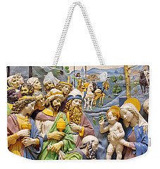 Weekender Tote Bag featuring the photograph Blue And Yellow by Munir Alawi