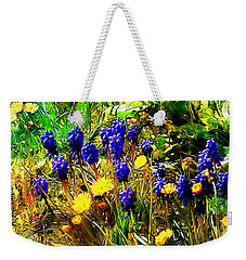 Blue And Yellow Wild Flower Medley Weekender Tote Bag
