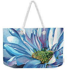 Blue Weekender Tote Bag by Angela Armano
