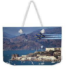 Blue Angels Over Alcatraz Weekender Tote Bag