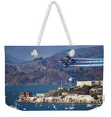 Blue Angels Over Alcatraz Weekender Tote Bag