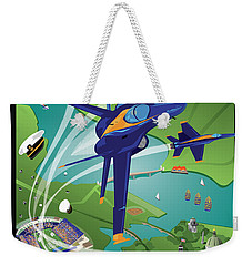 Blue Angels Over Usna Weekender Tote Bag