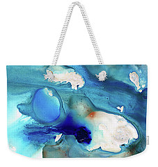 Blue Art - The Meaning Of Life - Sharon Cummings Weekender Tote Bag by Sharon Cummings