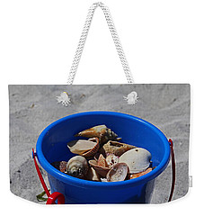 Weekender Tote Bag featuring the photograph Blue Beach Bucket by Michiale Schneider