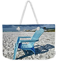 Blue Beach Chair Weekender Tote Bag