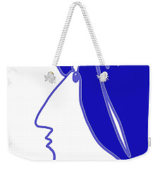 Blue Belle Weekender Tote Bag