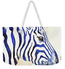 Blue Ben Zebra Weekender Tote Bag
